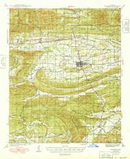 Waldron, Arkansas 1949 (1949) USGS Old Topo Map Reprint 15x15 AR Quad 260358