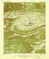 Waldron, Arkansas 1941 (1941) USGS Old Topo Map Reprint 15x15 AR Quad 260348