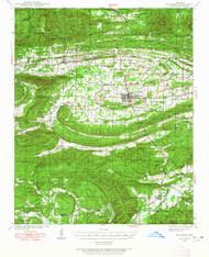 Waldron, Arkansas 1939 (1965) USGS Old Topo Map Reprint 15x15 AR Quad 260352