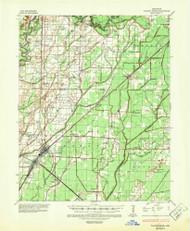 Walnut Ridge, Arkansas 1935 (1947) USGS Old Topo Map Reprint 15x15 AR Quad 260359
