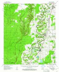 Wilmot, Arkansas 1960 (1961) USGS Old Topo Map Reprint 15x15 AR Quad 260379