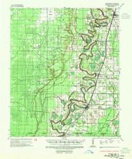 Wilmot, Arkansas 1935 (1954) USGS Old Topo Map Reprint 15x15 AR Quad 260375