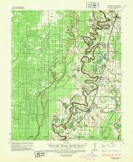 Wilmot, Arkansas 1935 (1947) USGS Old Topo Map Reprint 15x15 AR Quad 260376