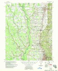Wynne, Arkansas 1958 (1958) USGS Old Topo Map Reprint 15x15 AR Quad 260385