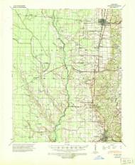 Wynne, Arkansas 1939 (1943) USGS Old Topo Map Reprint 15x15 AR Quad 260382