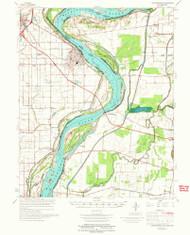 Caruthersville, Missouri 1973 (1973) USGS Old Topo Map Reprint 15x15 AR Quad 324782