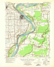 Caruthersville, Missouri 1957 (1957) USGS Old Topo Map Reprint 15x15 AR Quad 324781