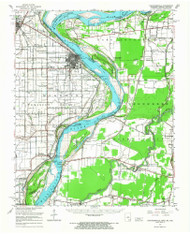 Caruthersville, Missouri 1951 (1968) USGS Old Topo Map Reprint 15x15 AR Quad 148850