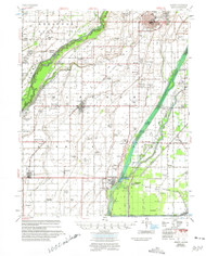 Kennett, Missouri 1956 (1975) USGS Old Topo Map Reprint 15x15 AR Quad 324996