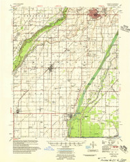 Kennett, Missouri 1956 (1956) USGS Old Topo Map Reprint 15x15 AR Quad 324995
