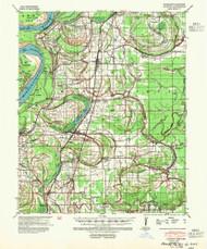 Clayton, Mississippi 1939 (1954) USGS Old Topo Map Reprint 15x15 AR Quad 336848