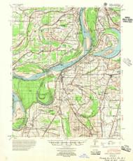 Farrell, Mississippi 1955 (1955) USGS Old Topo Map Reprint 15x15 AR Quad 260060