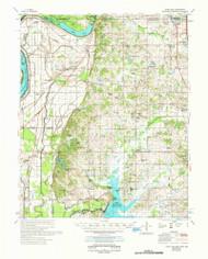 Horn Lake, Mississippi 1961 (1978) USGS Old Topo Map Reprint 15x15 AR Quad 336934