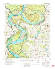 Lamont, Mississippi 1977 (1977) USGS Old Topo Map Reprint 15x15 AR Quad 336951