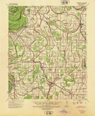 Pace, Mississippi 1939 (1942) USGS Old Topo Map Reprint 15x15 AR Quad 337029