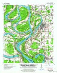 Refuge, Mississippi 1939 (1964) USGS Old Topo Map Reprint 15x15 AR Quad 260275