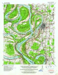 Refuge, Mississippi 1939 (1961) USGS Old Topo Map Reprint 15x15 AR Quad 260276