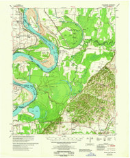 Hales Point, Tennessee 1962 (1962) USGS Old Topo Map Reprint 15x15 AR Quad 147982