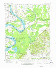 Hales Point, Tennessee 1961 (1977) USGS Old Topo Map Reprint 15x15 AR Quad 147981