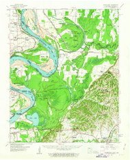 Hales Point, Tennessee 1961 (1963) USGS Old Topo Map Reprint 15x15 AR Quad 147980