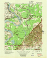 Hales Point, Tennessee 1952 (1952) USGS Old Topo Map Reprint 15x15 AR Quad 147978