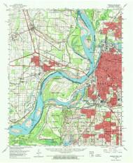 Memphis, Tennessee 1960 (1970) USGS Old Topo Map Reprint 15x15 AR Quad 150038