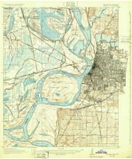 Memphis, Tennessee 1927 (1932) USGS Old Topo Map Reprint 15x15 AR Quad 153392