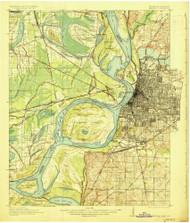 Memphis, Tennessee 1927 (1927) USGS Old Topo Map Reprint 15x15 AR Quad 153391