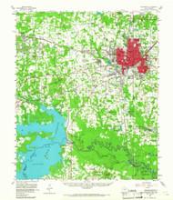 Texarkana, Texas 1954 (1967) USGS Old Topo Map Reprint 15x15 AR Quad 121850