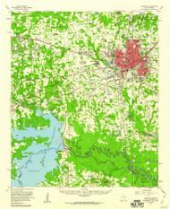 Texarkana, Texas 1954 (1960) USGS Old Topo Map Reprint 15x15 AR Quad 121851
