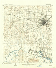 Texarkana, Texas 1909 (1942) USGS Old Topo Map Reprint 15x15 AR Quad 121846
