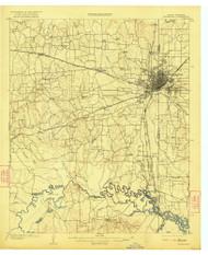 Texarkana, Texas 1909 (1922) USGS Old Topo Map Reprint 15x15 AR Quad 137528