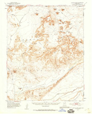 Agathla Peak, Arizona 1952 (1959) USGS Old Topo Map Reprint 15x15 AZ Quad 314293
