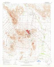 Ajo, Arizona 1963 (1964) USGS Old Topo Map Reprint 15x15 AZ Quad 314308