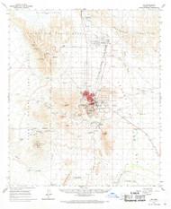 Ajo, Arizona 1963 (1969) USGS Old Topo Map Reprint 15x15 AZ Quad 314307