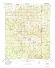 Alpine, Arizona 1958 (1975) USGS Old Topo Map Reprint 15x15 AZ Quad 314313