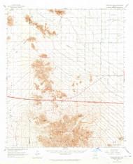 Antelope Peak, Arizona 1963 (1965) USGS Old Topo Map Reprint 15x15 AZ Quad 314323