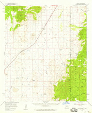 Apache, Arizona 1958 (1959) USGS Old Topo Map Reprint 15x15 AZ Quad 314326