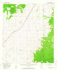Apache, Arizona 1958 (1963) USGS Old Topo Map Reprint 15x15 AZ Quad 314325