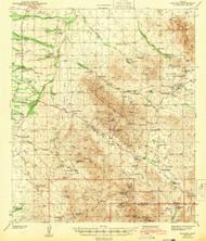 Arivaca, Arizona 1943 (1956) USGS Old Topo Map Reprint 15x15 AZ Quad 314331