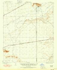 Aztec, Arizona 1929 (1950) USGS Old Topo Map Reprint 15x15 AZ Quad 314344