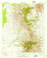Baboquivari Peak, Arizona 1941 (1955) USGS Old Topo Map Reprint 15x15 AZ Quad 314349