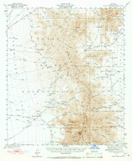 Baboquivari Peak, Arizona 1941 (1967) USGS Old Topo Map Reprint 15x15 AZ Quad 314348
