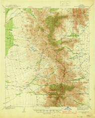 Baboquivari Peak, Arizona 1944 (1944) USGS Old Topo Map Reprint 15x15 AZ Quad 314350