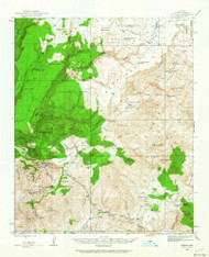 Bagdad, Arizona 1945 (1964) USGS Old Topo Map Reprint 15x15 AZ Quad 314352