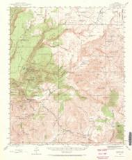 Bagdad, Arizona 1945 (1973) USGS Old Topo Map Reprint 15x15 AZ Quad 464572