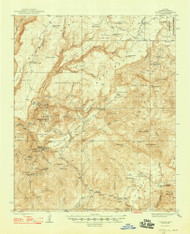 Bagdad, Arizona 1948 (1948) USGS Old Topo Map Reprint 15x15 AZ Quad 314354