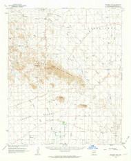 Belmont Mountains, Arizona 1962 (1963) USGS Old Topo Map Reprint 15x15 AZ Quad 314360