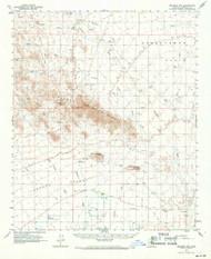 Belmont Mountains, Arizona 1962 (1971) USGS Old Topo Map Reprint 15x15 AZ Quad 314359