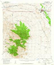 Benson, Arizona 1958 (1962) USGS Old Topo Map Reprint 15x15 AZ Quad 314361